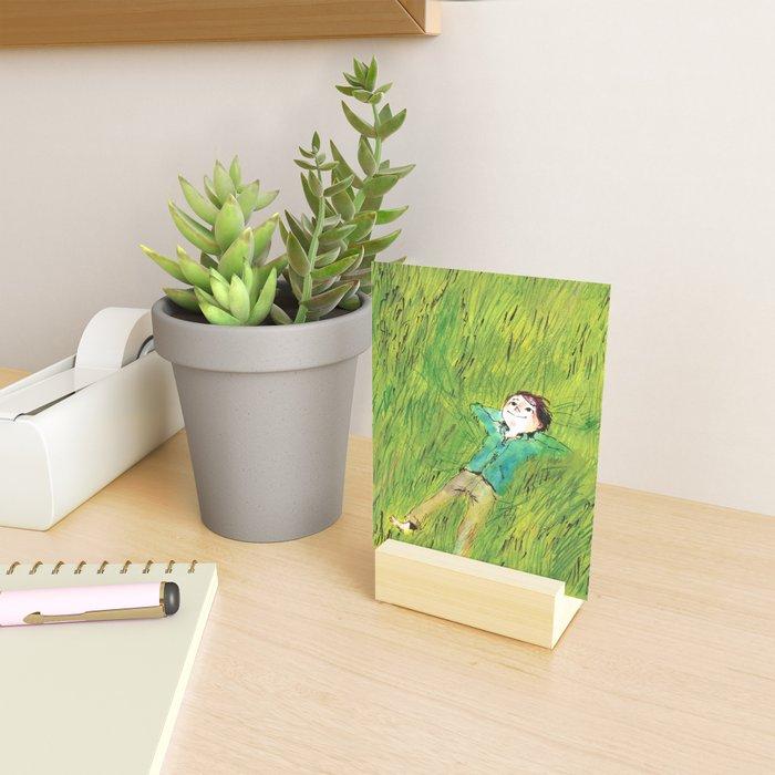 On the grass Mini Art Print
