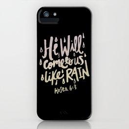 Hosea 6: 3 II iPhone Case