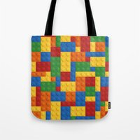 wwe Tote Bags featuring Lego bricks by eARTh