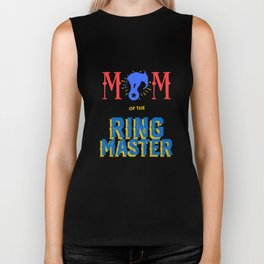 Circus Carnival Birthday Mom Mother Party Apparel Biker Tank