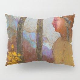 """Odilon Redon """"Évocation (Femme à la montagne)"""" Pillow Sham"""