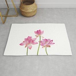 Lotos Waterlilies Flowes pink Rug