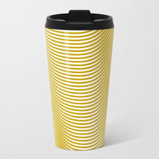 Golden Waves Metal Travel Mug