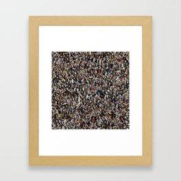 CBQ Gothic girl collage Framed Art Print