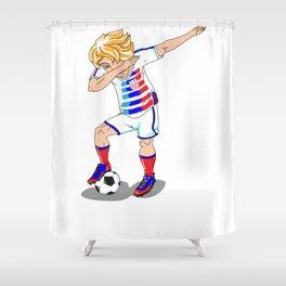 USA Soccer Player Dab Shower Curtain