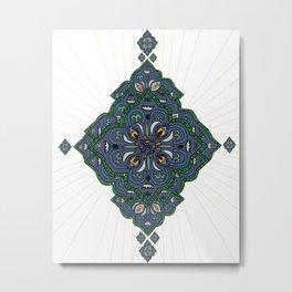 Lively Earth Mandala - v.2 Metal Print