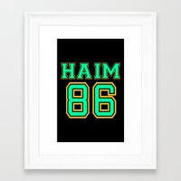 haim Framed Art Prints featuring HAIM 86 by it's haim time