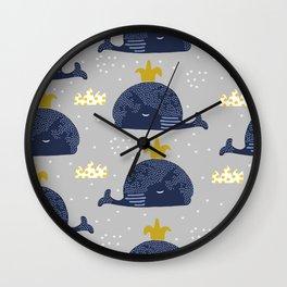 Cute whale Wall Clock