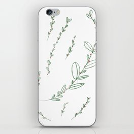 Mistletoe Winter Berry iPhone Skin
