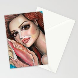 Listen by Laurie Leigh Mermaid Art Stationery Cards