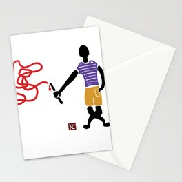 Shout dark Stationery Cards