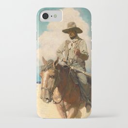 The Little Posse Started Out on its Journey, the Wiry Marshal First, 1907 by Newell Convers Wyeth iPhone Case