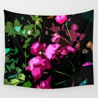 free shipping Wall Tapestries featuring Rose garden by Ordiraptus