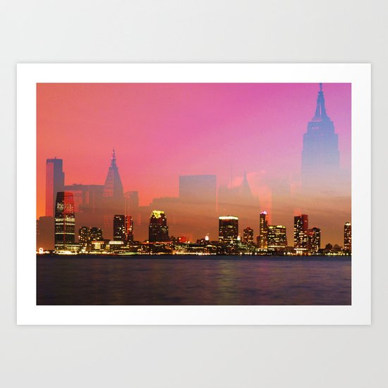 Skylines - New York Art Print