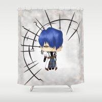 berserk Shower Curtains featuring Legato Bluesummers by artwaste
