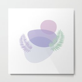 Little pebbles and tropical leaf planet #society6 #minimalart #abstractart Metal Print