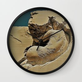 Photograph of Pascale Archambault's Haunting Sculpture Symbiosis Wall Clock