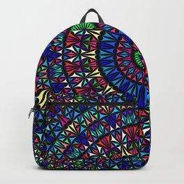 Colorful Church Window Mandala Backpack
