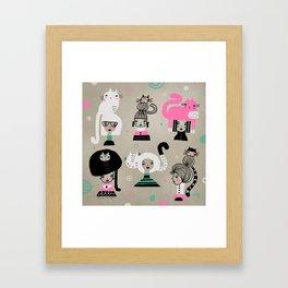 MULTIPLE CHOICE Framed Art Print