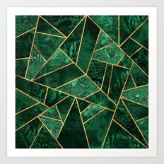 Deep Emerald Art Print