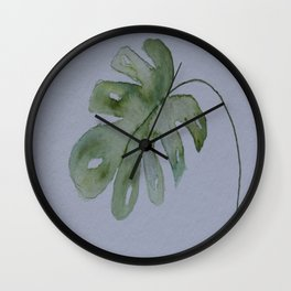 Monstera Leave Wall Clock