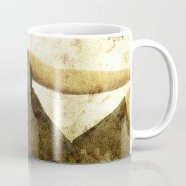 bella ragazza su fondo steampunk vintage Coffee Mug