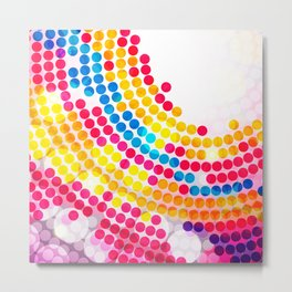 Colorful color Circle Dots Pattern for Girls Metal Print
