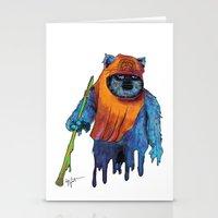 ewok Stationery Cards featuring Trippy Ewok by Lyn Sweet