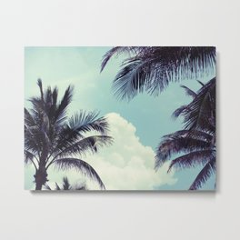 Welcome to Miami Palm Trees Metal Print