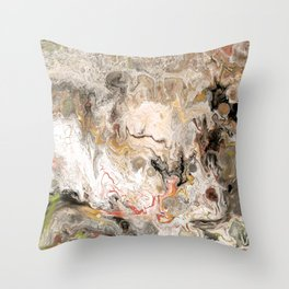 Earth Strata Marble Throw Pillow