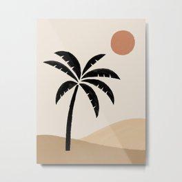 Desert Sun Palm Metal Print
