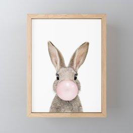 Bubble Gum Rabbit Framed Mini Art Print