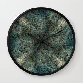Graphic symmetric design background Wall Clock