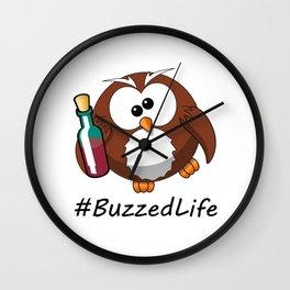 #BuzzedLife Drunk Owl Wall Clock