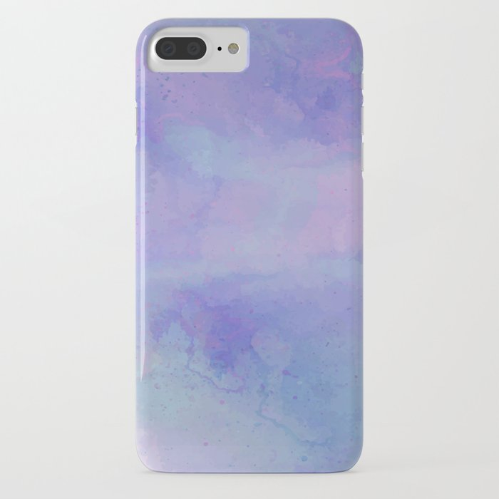 Watercolour Galaxy - Purple Speckled Sky iPhone Case