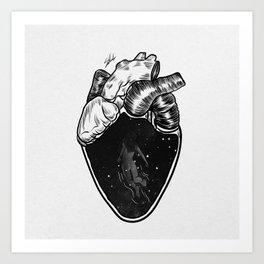 Inside your heart. Art Print