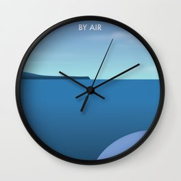 Greece By Air Vacation poster. Wall Clock