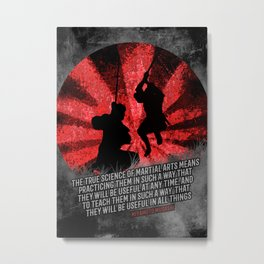 Miyamoto Musashi Samurai -  true science of Martial Arts Metal Print