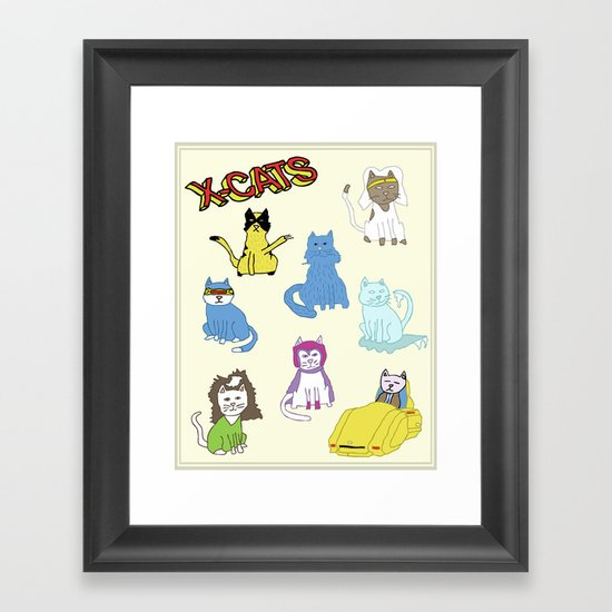 X-CATS Framed Art Print
