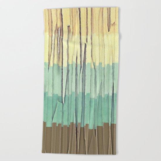 Shreds of Color 2 Beach Towel