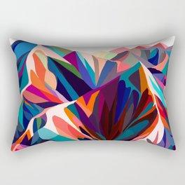 Mountains sunset warm Rectangular Pillow