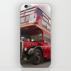 Old Red London Bus Vintage transport iPhone Skin