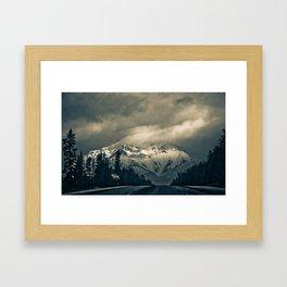 Through the Rockies Framed Art Print