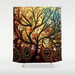 Abstract tree-9 Shower Curtain