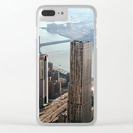 Vintage New City Clear iPhone Case