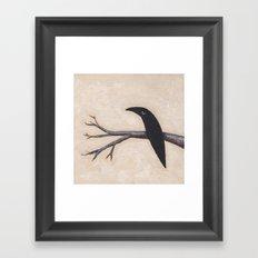 Crow On Branch  Framed Art Print