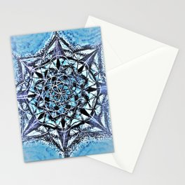 Icy Blue Mandala Stationery Cards