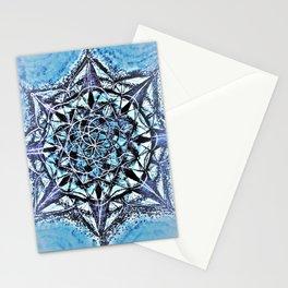 Icy Blue Mandala Stationery Cards