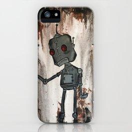 Sad Robot 2 iPhone Case