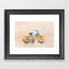Juicing Along Framed Art Print